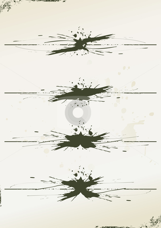 Grunge page rules made from splashes stock vector clipart, Grunge page rules made from splashes - vector illustration by ojal_2