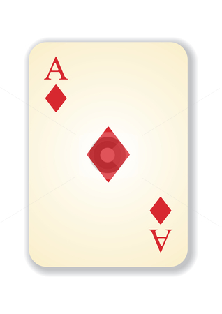 Vector version of old vintage aces card stock vector clipart, Vector version of old vintage aces playing card by ojal_2