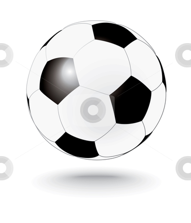 Simply black and white soccerball, football stock vector clipart, Simply black and white soccerball - vector illustration by ojal_2