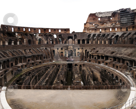 Coliseum Stage stock photo, The historic Roman coliseum located in Rome (Roma) Italy by Kevin Tietz