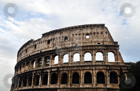 Rome Coliseum stock photo, The historic Roman coliseum located in Rome (Roma) Italy by Kevin Tietz