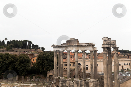 Roman Forum stock photo, The Roman Forum at the heart of Rome (Roma) Italy by Kevin Tietz