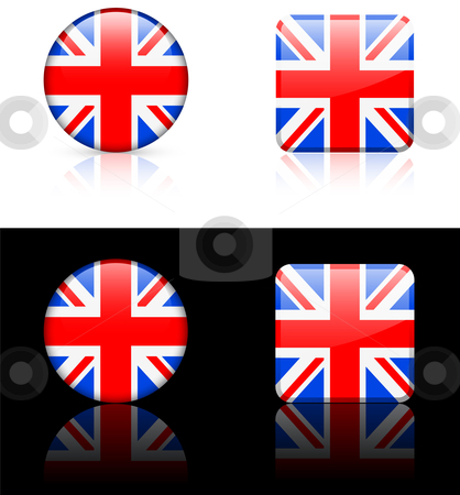 World Flags: Great Britain stock vector clipart, Original vector World Flags buttons by L Belomlinsky