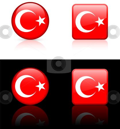 World Flags: Turkey stock vector clipart, Original vector World Flags buttons by L Belomlinsky