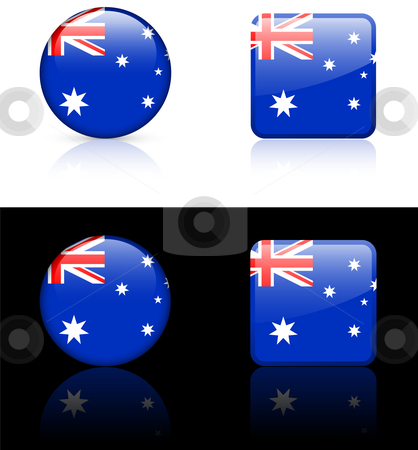 World Flags: Australia stock vector clipart, Original vector World Flags buttons by L Belomlinsky