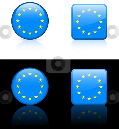 World Flags: European Union stock vector clipart, Original vector World Flags buttons by L Belomlinsky