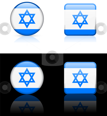 World Flags: Israel stock vector clipart, Original vector World Flags buttons by L Belomlinsky
