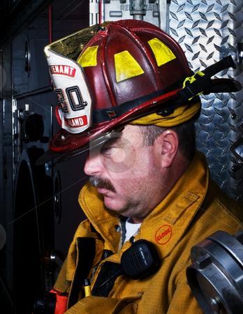 Firefighter Portrait stock photo, Firefighter Portrait by Jim DeLillo