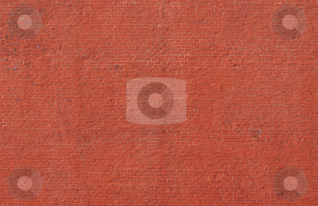 Old wall. stock photo, Old wall from a red brick. A fragment of a fortification. by Evgen Tinjakov