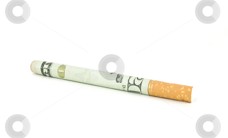 Expensive cigarette stock photo, Concept of Sin Tax Expense of Cigarette by John Teeter