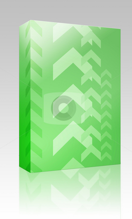 Upwards arrows box package stock photo, Software package box Abstract graphic design of upwards pointing arrows by Kheng Guan Toh
