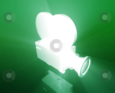 Old vintage film camera stock photo, Old vintage film camera illustration shiny glowing concept by Kheng Guan Toh