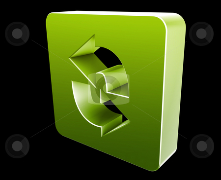 Reload navigation icon stock photo, Reload navigation icon glossy button, square shape by Kheng Guan Toh