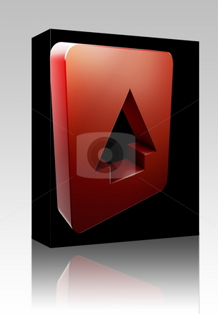 Up navigation icon box package stock photo, Software package box Up navigation icon glossy button, square shape by Kheng Guan Toh