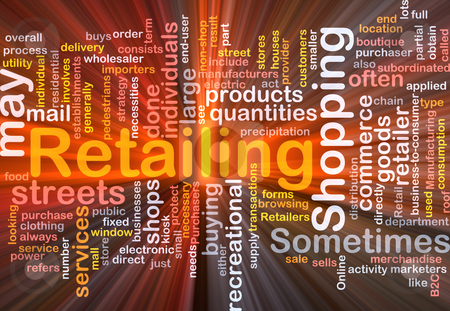 Retailing word cloud box package stock photo, Software package box Word cloud concept illustration of retailing retail by Kheng Guan Toh