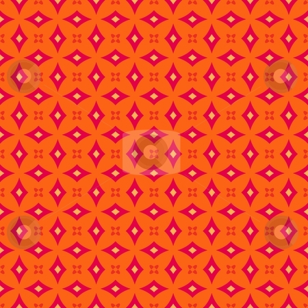 Retro vintage wallpaper stock photo, Colorful retro patterns geometric design vintage wallpaper seamless background by Kheng Guan Toh