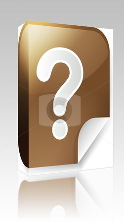 Question mark sticker box package stock photo, Software package box Navigation icon sticker button with question mark by Kheng Guan Toh