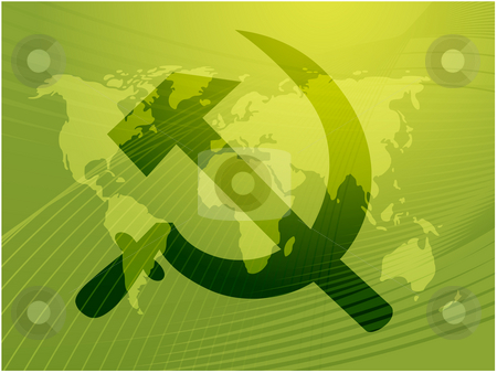 Soviet symbol stock photo, Soviet USSR hammer and sickle political symbol by Kheng Guan Toh