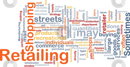 Retailing word cloud stock photo, Word cloud concept illustration of retailing retail by Kheng Guan Toh