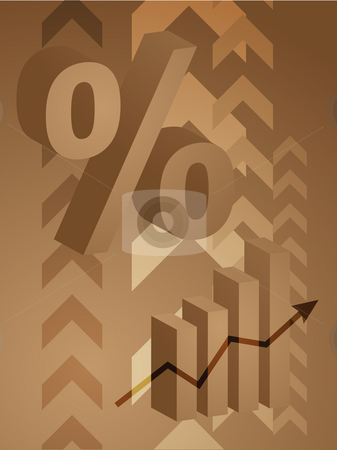 Percent symbol illustration stock photo, Abstract financial success illustration with percent symbol by Kheng Guan Toh