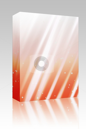 Sparkling lights box package stock photo, Software package box Bright glowing light streaks with sparkling energy by Kheng Guan Toh