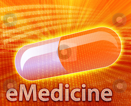 Online Medicine stock photo, E-medicine, Online medicine, ecommerce health pharmacy illustration by Kheng Guan Toh