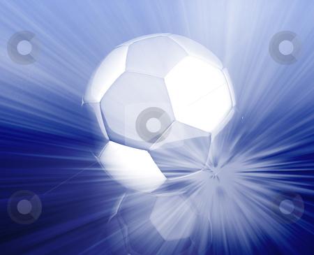Soccer ball wallpaper stock photo, Shining modern soccer ball abstract wallpaper background by Kheng Guan Toh