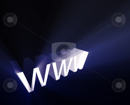WWW glowing stock photo, WWW internet word graphic, with glowing light effects by Kheng Guan Toh