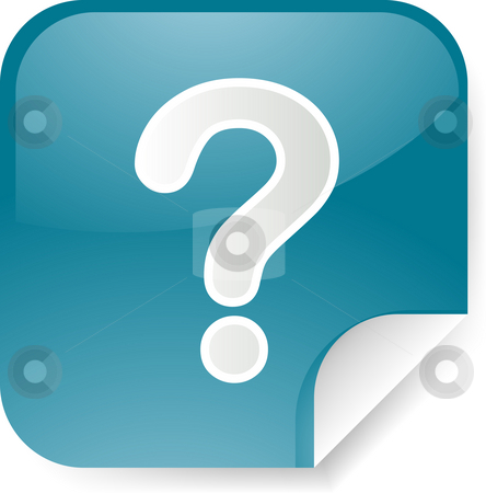 Question mark sticker stock photo, Navigation icon sticker button with question mark by Kheng Guan Toh