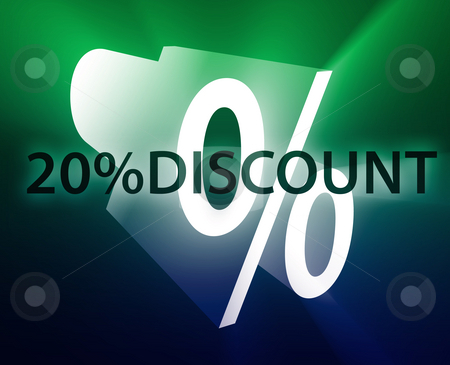 Percent Discount illustration stock photo, Twenty percent discount, retail sales promotion announcement illustration by Kheng Guan Toh