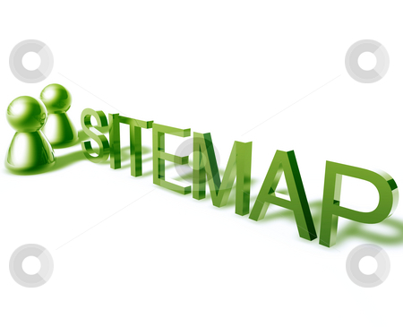Sitemap word graphic stock photo, Sitemap online word graphic, with stylized people icons by Kheng Guan Toh