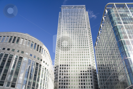 Canary Wharf skyscrapers in London stock photo, Canary Wharf skyscrapers in London in a clear day by Karel Miragaya