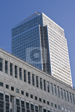 Canary Wharf skyscrapers in London stock photo, Canary Wharf skyscrapers in London in a clear day by Karel Miragaya