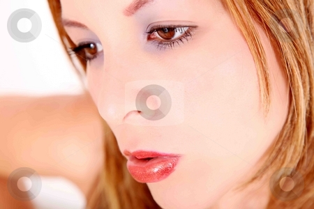 Young woman stock photo, Beauty young woman over white background. Fasion photography by Giuseppe Ramos