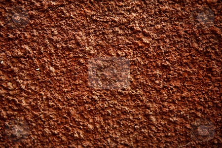 Red Background stock photo, Red painted rough cement wall background texture by Ian Genis