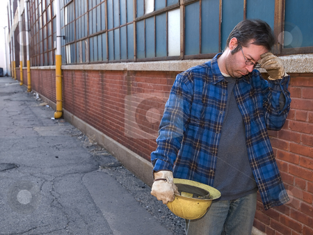 Male Construction Worker stock photo, Male Construction Worker by Jim DeLillo
