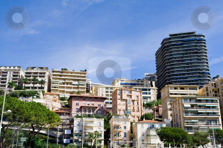 Hotels line stock photo, Line of a hotels of a sea resort. Summer time by Peter Kirillov