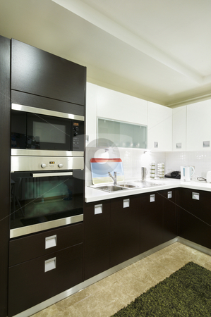 Microwave In The Domestical Kitchen stock photo, Microwace in the domestical kitchen Wide angel view by Mehmet ali Ertek