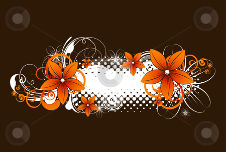 Floral banner stock vector clipart, Abstract vector illustration for design. by Nata Lama