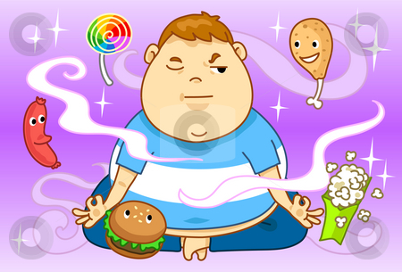 Obesity And Diet stock photo, Image of an overweight person who attempt to loose weight and diet. by Verapol Chaiyapin