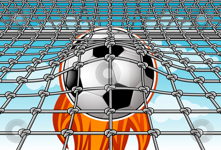 The Goal  - X stock photo, Image of a soccer ball which is kicked right into the goal by Verapol Chaiyapin
