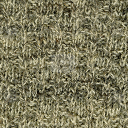 Handmade knitted wool texture stock photo, Close-up of white, gray, brown handmade knitted wool sweater texture by Marek Uliasz