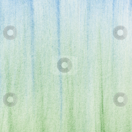 Green blue pastel abstract background stock photo, Green and blue abstract background - vertical smudges of soft pastel crayons on white paper by Marek Uliasz