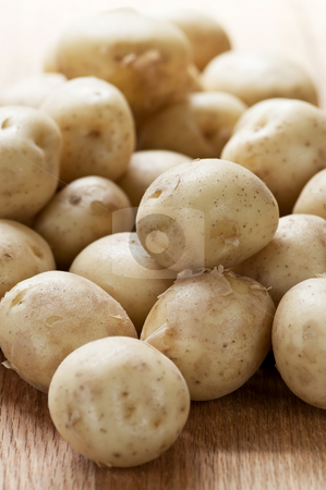 Potatoes stock photo, Assorted whole fresh organic mini potatoes vegetables by Elena Elisseeva