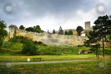 Kalemegdan fortress in Belgrade stock photo, Kalemegdan fortress in Belgrade with walking path by Elena Elisseeva