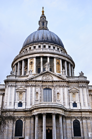 St. Paul's Cathedral London stock photo, Dome of St. Paul's Cathedral in London by Elena Elisseeva