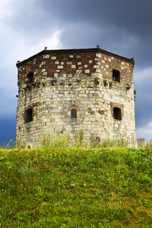 Nebojsa tower in Belgrade stock photo, Historic Nebojsa tower at Kalemegdan in Belgrade by Elena Elisseeva