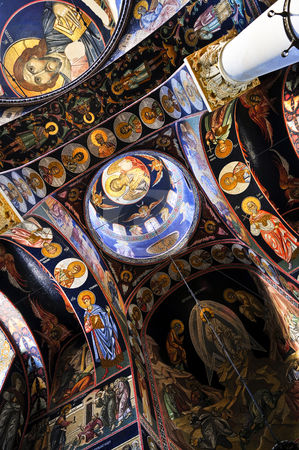Church interior stock photo, Interior of orthodox christian St. George church in Topola, Serbia by Elena Elisseeva