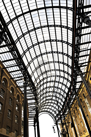 Hay's Galleria roof stock photo, Interior view of Hay's Galleria glass roof by Elena Elisseeva