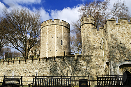 Tower of London stock photo, Tower of London historic building in England by Elena Elisseeva